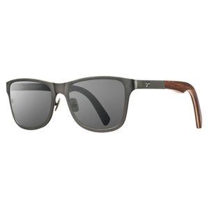 SHWOOD Polarized Titanium & Wood Sunglasses